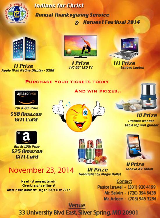 Harvest Festival 2014 - Raffle Prizes