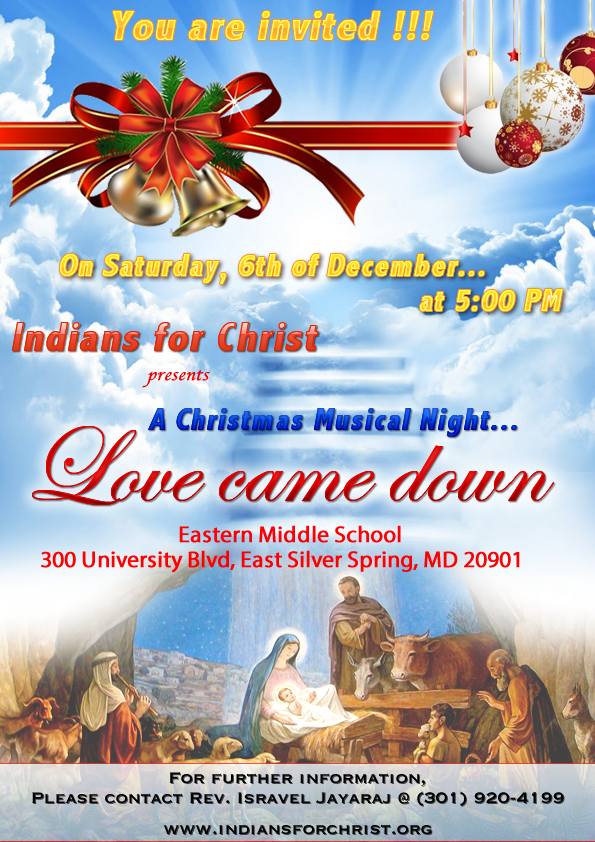 Indians For Christ - Tamil Church - Choir Concert 2014